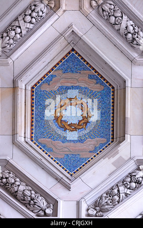 Berlin, Germany. Berliner Dom / Berlin Cathedral (1905, but largely rebuilt after sever damage in WW2) Mosaic detail - Stock Photo