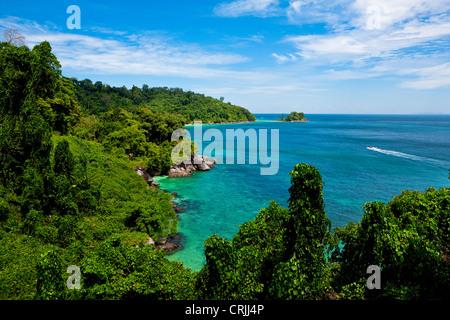 Tioman Island in South China sea, Malaysia - Stock Photo