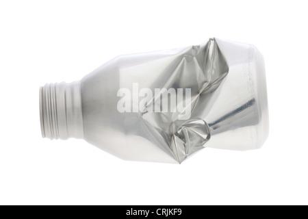aluminum bottle isolated on white background - Stock Photo