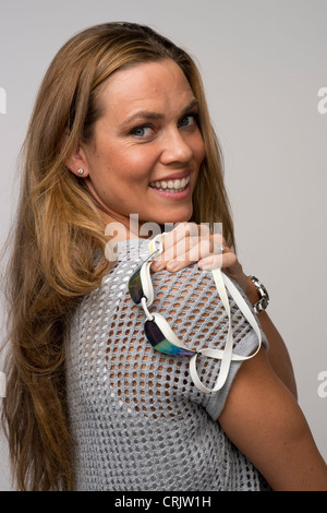 USA Olympian women's swimmer Natalie Coughlin poses at the USOC Media Summit in Dallas, TX prior to the London Olympics - Stock Photo