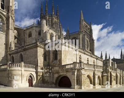 Burgos Cathedral de Santa Maria, Spain on El Camino De Santiago De Compostela - Stock Photo