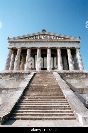 The Walhalla near Regensburg on the Danube - Stock Photo