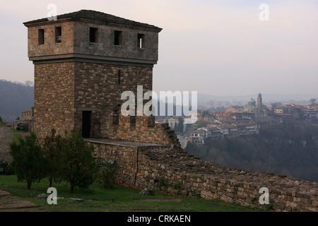 Tsarevets Medieval Fortress, Veliko Tarnovo, Bulgaria - Stock Photo