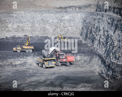 Construction work in coal mine - Stock Photo