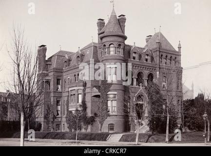 Immense Richardsonian Romanesque Mansion - Stock Photo