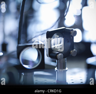 Close up of laser mirrors in lab - Stock Photo