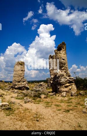 Pobiti Kamani petrified Stone Forest Near Varna in Bulgaria - Stock Photo