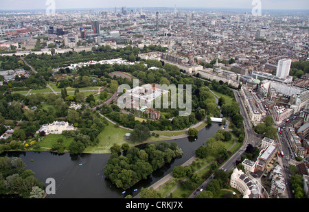 aerial view of Regent's Park, London NW1 - Stock Photo