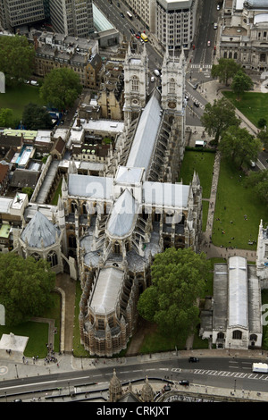 aerial view of Westminster Abbey - Stock Photo