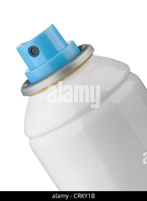 Detail of spray can on white background - Stock Photo