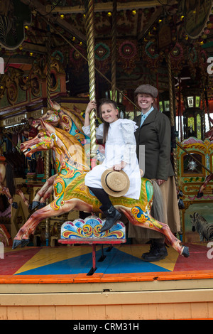 Carousel, Beamish Open Air Museum, County Durham - Stock Photo