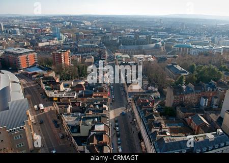 Looking down Park Street , Bristol, UK - Stock Photo