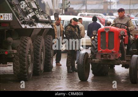 German KFOR troops in Prizren, Kosovo - Stock Photo