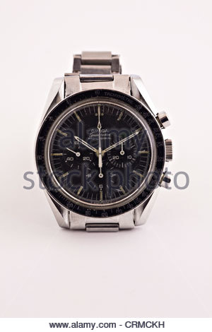 Man's Omega Speedmaster Professional wrist watch - Stock Photo