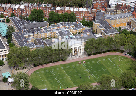 aerial view of the Saatchi Gallery, Lower Sloane Street, London SW3 - Stock Photo