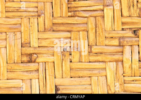 Weaved straws of palm leaves as horizontal background - Stock Photo
