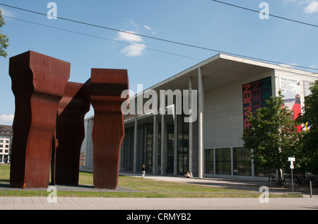 Pinakothek der Moderne art museum in Munich - Stock Photo