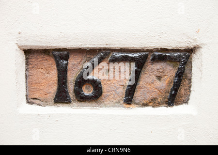 The age of an old house in Appleby, Cumbria, UK. - Stock Photo