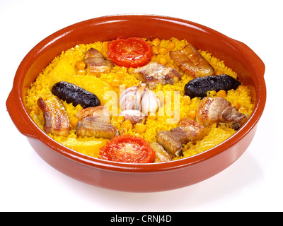 Arroz al Horno – Oven cooked rice - Stock Photo
