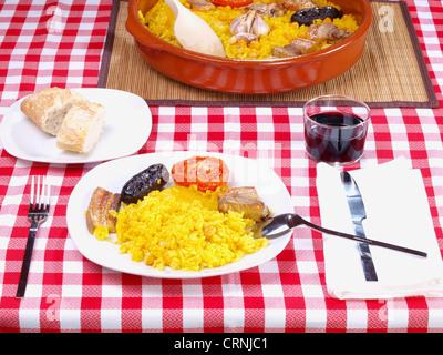 Arroz al Horno – Oven cooked rice - Stock Photo