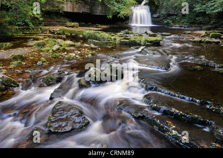 West Burton Falls or Cauldron Falls in the Yorkshire Dales. - Stock Photo