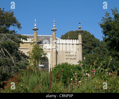 Brighton Museum and Art Gallery in the Royal Pavilion gardens. - Stock Photo