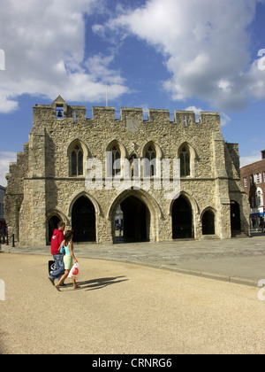 The Bargate in Southampton, a Grade I listed building and a scheduled monument constructed in Norman times as part - Stock Photo