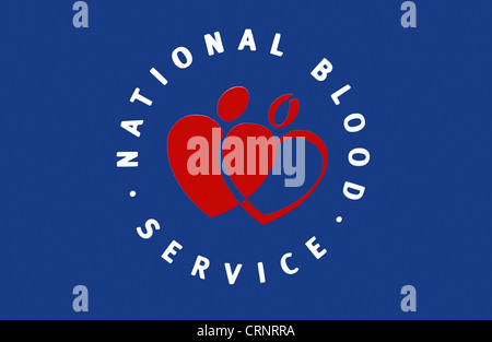 National Blood Service logo. - Stock Photo