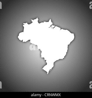 Political map of Brazil with the several states. - Stock Photo