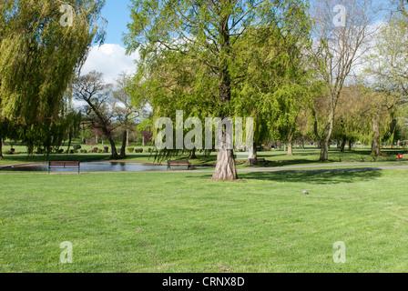 View Of Sanders Park In Bromsgrove Worcestershire Stock