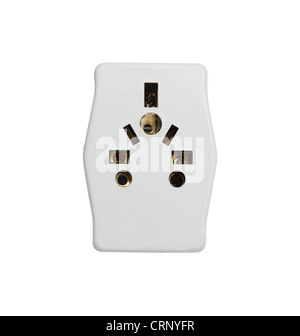 A power adaptor isolated on white - Stock Photo