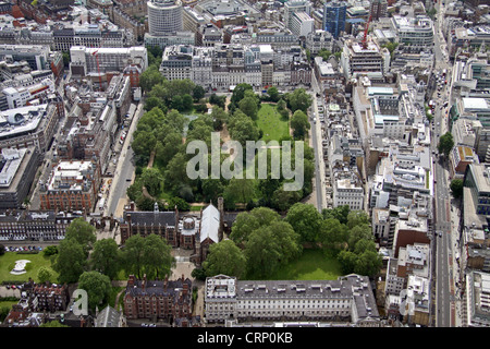 aerial view of Lincoln's Inn Fields, London WC2 - Stock Photo