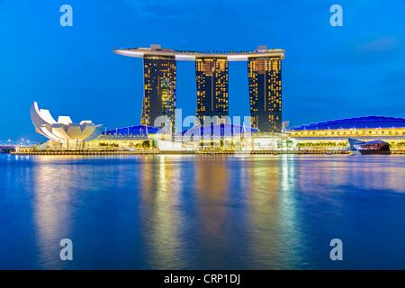 Marina Bay Sands, Marina Bay, Singapore, South East Asia - Stock Photo