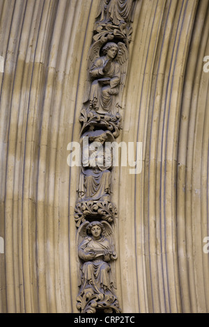 Westminster Abbey sculptures. London. England - Stock Photo