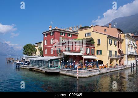 Cityscape view Malcesine, Lake Garda, region Veneto, province Verona, Italy, Europe - Stock Photo