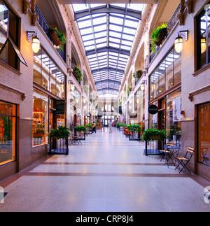Grove Arcade in Asheville, North Carolina, USA - Stock Photo