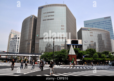 street scene Ginza Tokyo Japan - Stock Photo