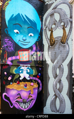 Graffiti in Great Eastern Street in the East End of London. - Stock Photo