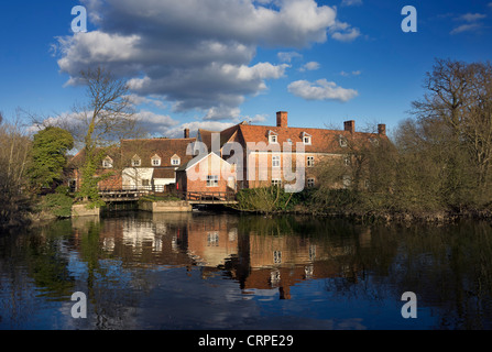 Flatford Mill on the River Stour in the heart of Dedham Vale, famed for its association with the famous English - Stock Photo