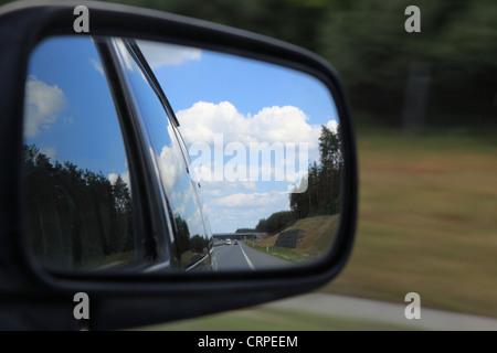 mirror of a car - Stock Photo