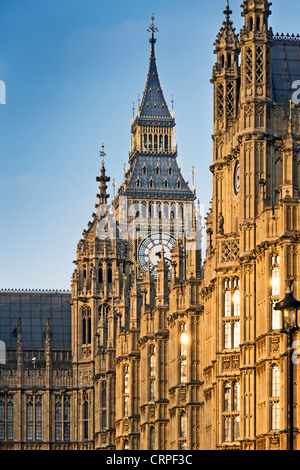 The Palace of Westminster also known as the Houses of Parliament and Big Ben. - Stock Photo