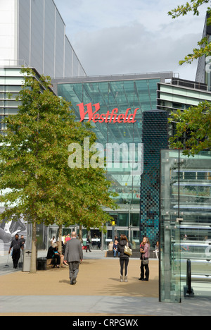 Chestnut Plaza by Westfield Stratford City shopping centre. The centre opened in 2011 and is the 3rd largest shopping - Stock Photo