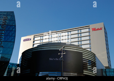 Premier Inn at Westfield Stratford City. The centre opened in 2011 and is the 3rd largest shopping centre in the - Stock Photo