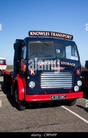 Classic Leyland Octopus flatbed lorry during the East Anglia Top Gear Road Run - Stock Photo