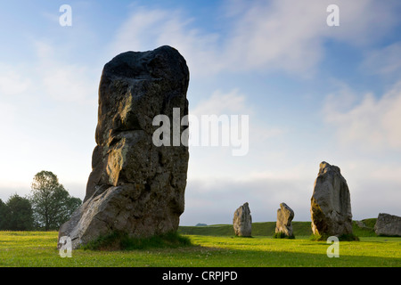 Standing stones, part of the Avebury ring, the oldest stone ring known to be in existence in the world. - Stock Photo