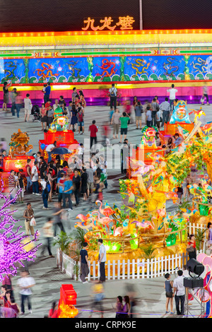 River Hongbao decorations for Chinese New Year celebrations at Marina Bay, Singapore - Stock Photo