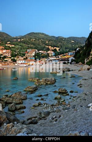Agios Nikitas, a beautiful village on the west coast of Lefkada (or 'Lefkas') island, Ionian Sea, Greece - Stock Photo