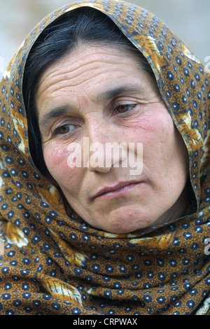 Resigned look of a woman in Kabul. - Stock Photo