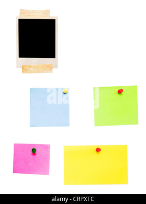 empty photo frame and blanks isolated on white - Stock Photo