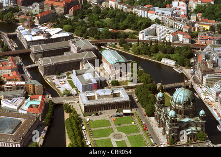 Museum Island in Berlin, Aerial View - Stock Photo